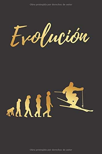 EVOLUCIÓN: CUADERNO LINEADO   Diario, Cuaderno de Notas, Apuntes o Agenda   Regalo Creativo y Original para los Amantes del Esquí.
