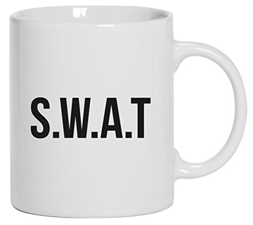 Spezialeinheit Kaffeetasse Kaffeebecher mit SWAT Kostüm 1 Motiv von ShirtStreet, Größe: onesize,Weiß