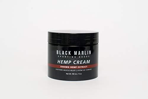 BLACK MARLIN Hemp Pain Relief Cream Fat Burner Oil | 5000mg Extract | Joint Pain, Arthritis, Back, Neck, Sore Muscle, Knee, Chronic Pain, Insomnia | Natural Hemp Extract Remedy | 5oz