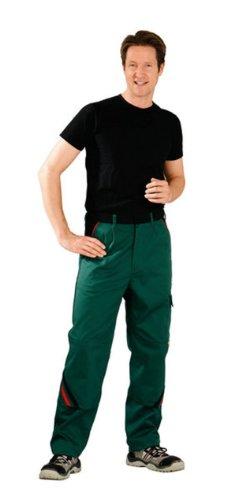 Planam Größe 62 Herren Highline Bundhose grün schwarz rot Modell 2325