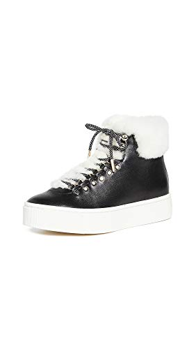 Joie Women's Handan High Top Sneakers, Black, 7 Medium US