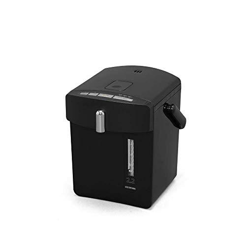 アイリスオーヤマ マイコン電気ポット 2.2L ジャーポット 保温機能 マグネットコード ブラック IAHD-022-B