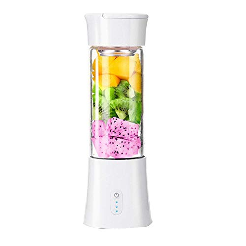 LEILEI Kacniohen Personal Blender,USB Electric Juice Extractor Machines Mini Smoothie Blender Handheld Fruit Juicer Cup Mixer Six Blades 380mL for Home Outdoor Travel White