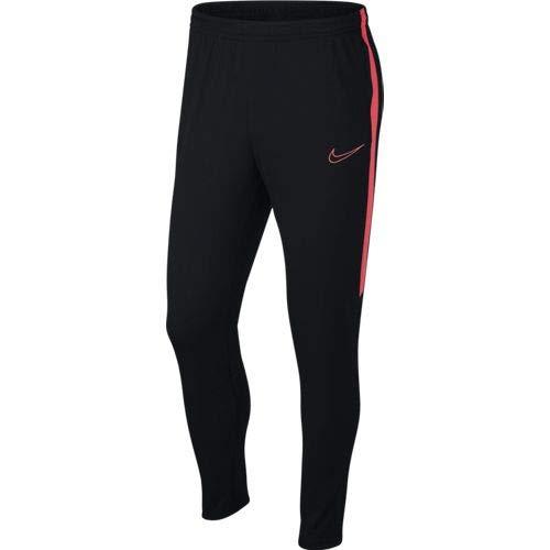 Nike Academy Pant Kpz, Pantaloni Sportivi Uomo, Black/Ember Glow/Ember Glow, XS