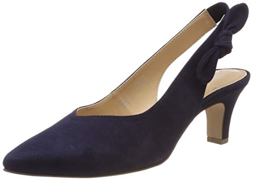 bugatti Damen 411685733400 Slingback Pumps, Blau (Dark Blue 4100), 38 EU
