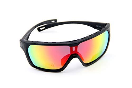 KTM Sonnenbrille Character Polarized Mirror C3, Bitte Farbe auswahlen (Schwarz/schwarz Logo)