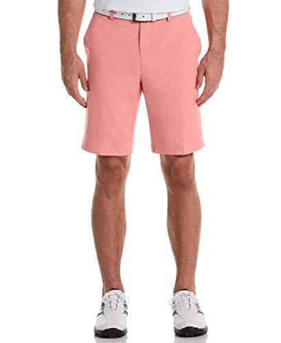 PGA TOUR Men's Flat Front Hybrid Short, Calypso Coral Heather, 34