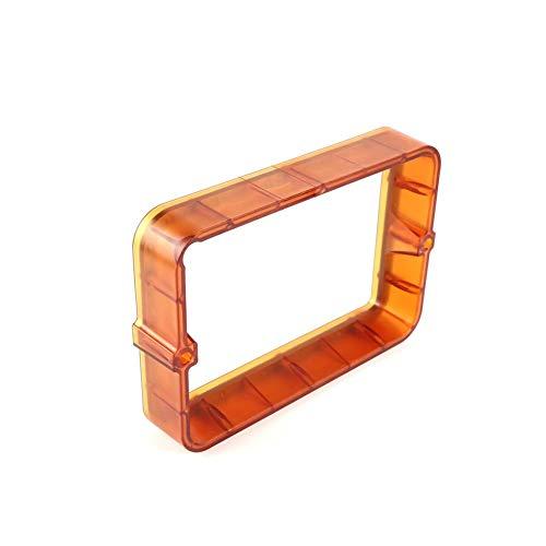 HUANRUOBAIHUO Transparent Black/Orange Material Rack 178 * 120mm DLP SLA 3D Printer Plastic Resin Vat FEP Film For Wanhao D7 Photon Steel Ring 3D Printer Parts (Color : Black)