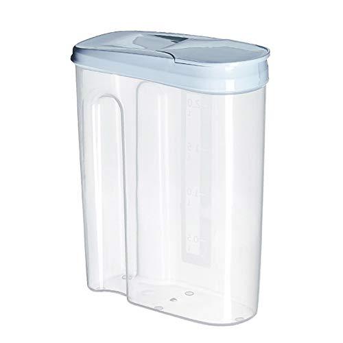 SELUXU 1.8L / 2.5L Dispensador de Cereales Caja de Almacenamiento de Alimentos Secos Caja de Plástico Contenedor de Cereales, Harina, Azúcar, Café, Arroz, Nueces