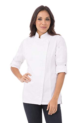 Chef Works Women's Hartford Chef Coat, White, S