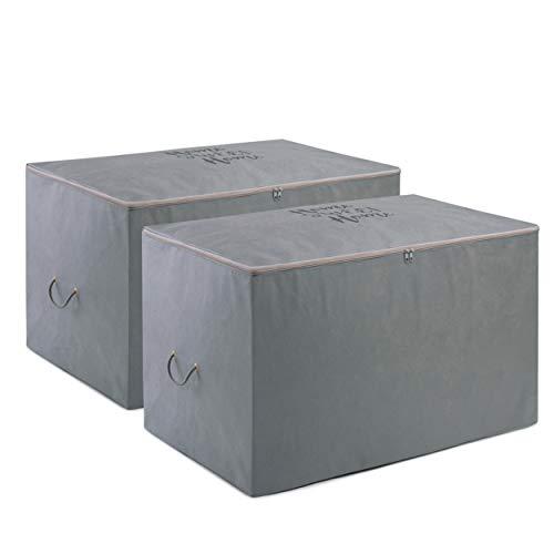 Ocean Home - Bolsa de almacenamiento (fieltro, 2 unidades), color gris