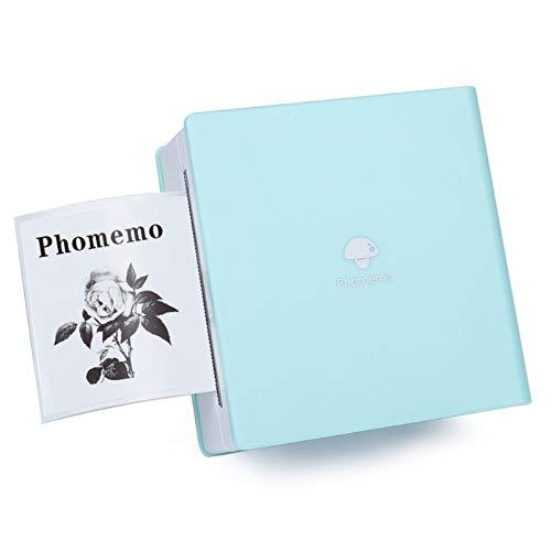 Phomemo M02 Stampante Termica Portatile Mini Stampante Bluetooth Stampante per Smartphone Stampante Sticker Compatibile per iOS e Android per Note di Studio, Lavoro, Memo, Etichette, Foto, Verde
