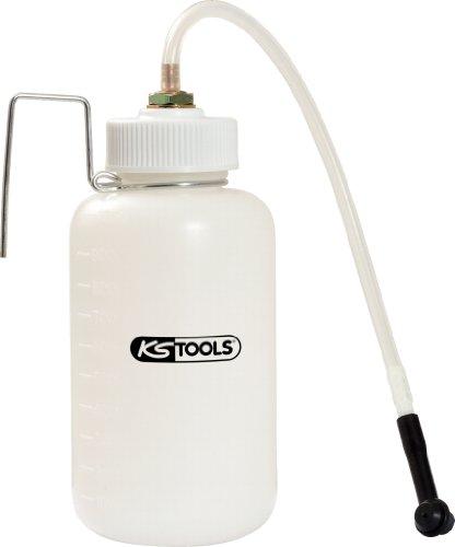KS Tools 160.0735 Bremsflüssigkeits-Auffangflasche, 1 Liter