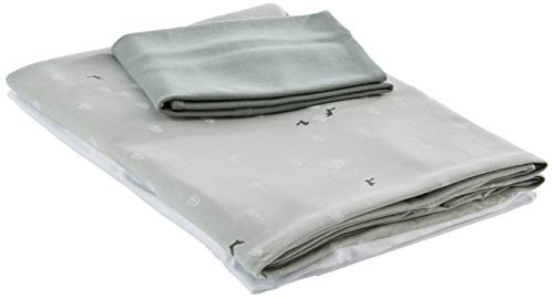 Babyclic Triple Duvet Cover Cot and Mini Cot (Fda + Fitted Sheet + Fda. Pillow) Moss Green - Duvet Covers