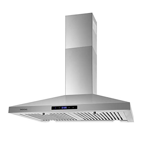 30 inch Wall Mount Range Hood, Stainless Steel Kitchen Hood with 2 LED Lights,Touch Control Kitchen...