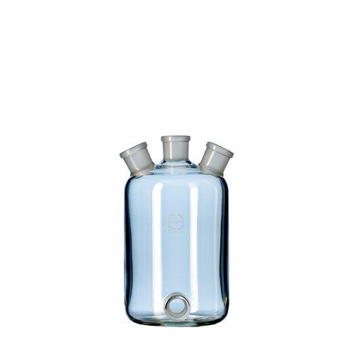 DURAN 24 710 44 Woulff'sche Flasche, 3 Hälse mit NS und Bodentubus, 500ml Inhalt