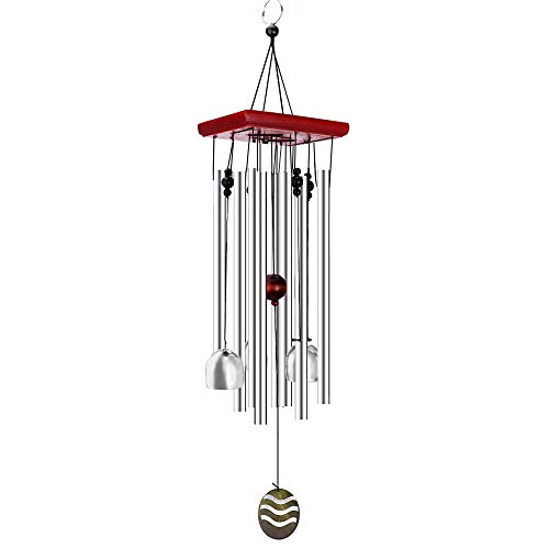 "Remiawy Wind Chimes Outdoor with Well-Packed Gift Box Soothing Sound 2 Free Hangers- Best Festival Birthday Sympathy Gift -Perfect Outdoor Garden and Home Decor, 21"" Aluminum Chimes"