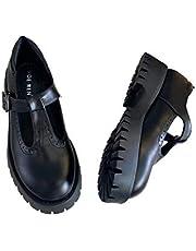 Dames Chunky Platform Mary Jane Schoenen Retro T-Riem Ronde Teen Gesp Strap Pumps Flats Ondiepe Mond Lolita Princess High Heels