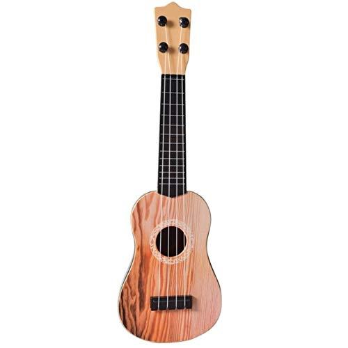 17-Zoll-Ukulele Frühlingssopran-Gitarre-Palisander 4-Saiten Hawaiianische Kombination Ukulele Musikinstrument Bildung Spielzeug für Kinder ( Color : Yellow )