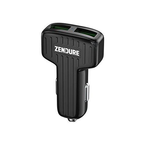 Zendure Autoladegerät 30W 2-Port Kfz USB Ladegerät mit Quick Charger 3.0, Car Charger für iPhone 8/8 Plus/iPhone X, iPad Air/Mini, Samsung Galaxy/Note, HTC, GPS und mehr (Schwarz)