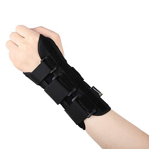 DISUPPO Handgelenkbandage Handbandage Ideal für Verstauchungen beim Sport und Sehnenscheidenentzündung - Handgelenk Stützung für Männer Frauen (Left)