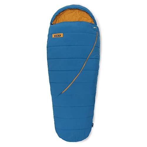 Qeedo Buddy XL Schlafsack, Mumie in Eiform, 240x100cm (LxB) - blau