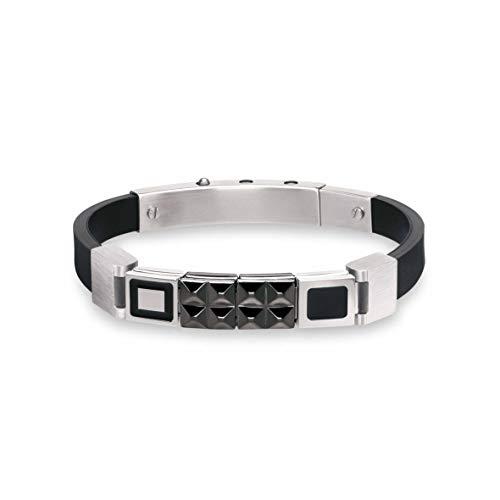 Nomination Mansoho Geometric Rubber Bracelet for Men