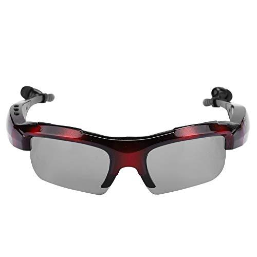 Tangxi Gafas de Sol con Auriculares Bluetooth, Gafas de Sol con música inalámbrica Bluetooth MP3, 10M/32.8ft Distancia de transmisión Audio Estéreo Manos Libres Auriculares Gafas Inteligentes