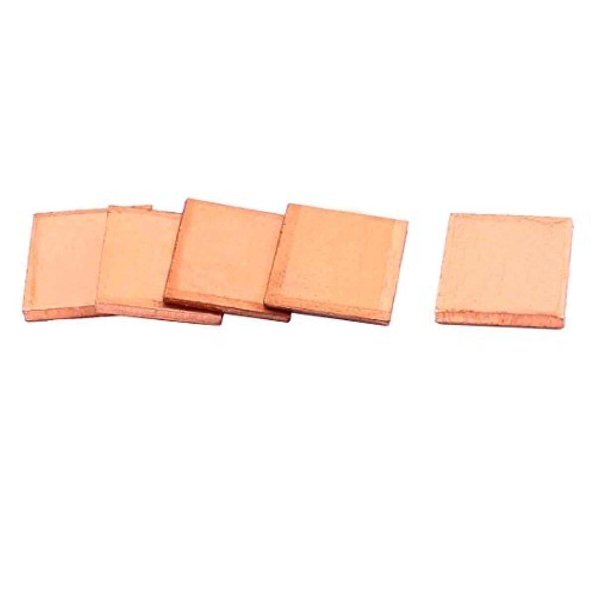 EbuyChX Copper PC Laptop CPU Pad Pad Heatsink Thermal Shim 15x15x2.0mm 5pcs
