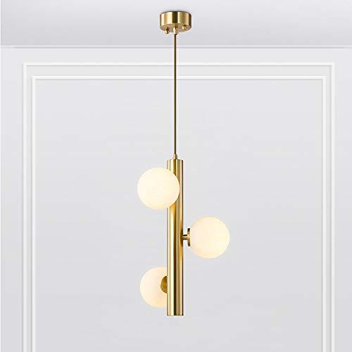 Moderne ijzeren kroonluchter, ronde glazen bol plafondlamp gouden verlichting plafondlamp slaapkamer café eettafel hanglamp