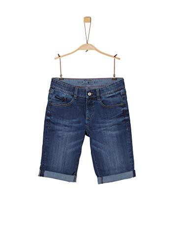 s.Oliver Jungen Regular Fit: Jeans-Bermuda blue 176.BIG