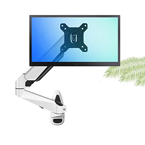 Soporte de montaje del monitor Montaje de un solo monitor Montaje de soporte de monitor de monitor de monitor con resorte de gas altura montada en la pared Soporte Ajustable VESA para pantalla de 15 '