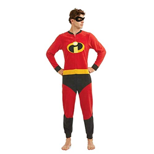 Disney Pixar The Incredibles 2 Holiday Family Sleep Matching Onesie Pajama with Mask (M Dad)