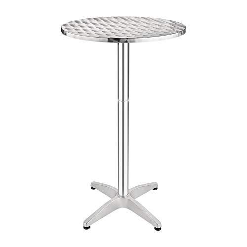 Bolero U502 Table Poseur Surface en acier inoxydable Base en alliage d'aluminium Diamètre 600 mm