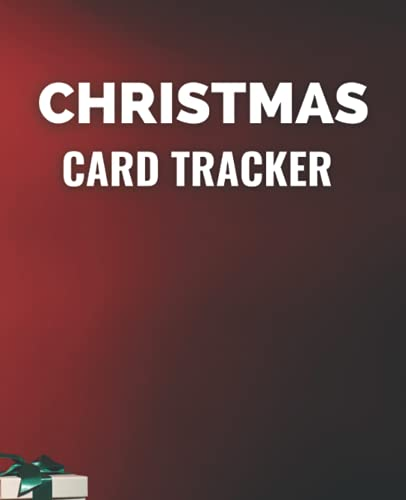Christmas Card Tracker: 7.5' x 9.25' Notebook Journal to Track Your Christmas Cards, 120 Pages