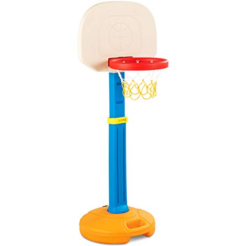 DREAMADE Basketballständer für Kinder, Basketballkorb mit Ständer Basketballanlage Korbanlage Höhenverstellbar,Basketball Spiel Set ideal für Indoor und Outdoor