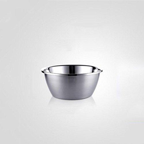 Bassin de soupe MXJ61 en Acier Inoxydable 304 Plus épais Pot Rond à l'oeuf au Four Moteur à légumes Pots (Taille : 20cm)