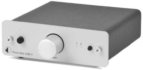 Pro-Ject Phono Box USB V Phono-Vorverstärker (MM/MC) silber