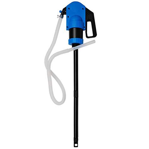 HELO \'SRL 1000\' AD-Blue Hand Hebelpumpe Fasspumpe mit ca. 50l/min Förderleistung (0,5l/Hub), für Adblue und andere Chemikalien, Handpumpe mit 1000 mm Saugrohr und 2 m Abgabeschlauch