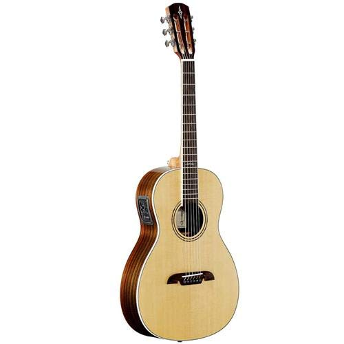 Alvarez Artist AP70WE Parlor 6-String Semi-Acoustic Guitar with EQ and Tuner, 18 Frets, Mahogany Neck, Pau Ferro Fingerboard, Solid A+ Sitka Spruce Top, Walnut Back/Sides, Natural Gloss