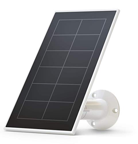 Arlo VMA3600-10000S Certified Accessory Essential Solar Panel Charger, Weather Resistant, 8 ft Power Cable, Adjustable Mount, Designed for Essential Wireless Wi-Fi Cameras, White