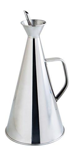 Quid Aceitera Antigoteo INOX 1L Renova, 6.27 litros, Acero Inoxidable, transparente