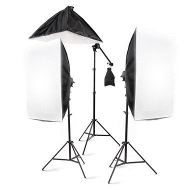 STUDIOFX 2400 Watt Large Photography Softbox Continuous Photo Lighting Kit