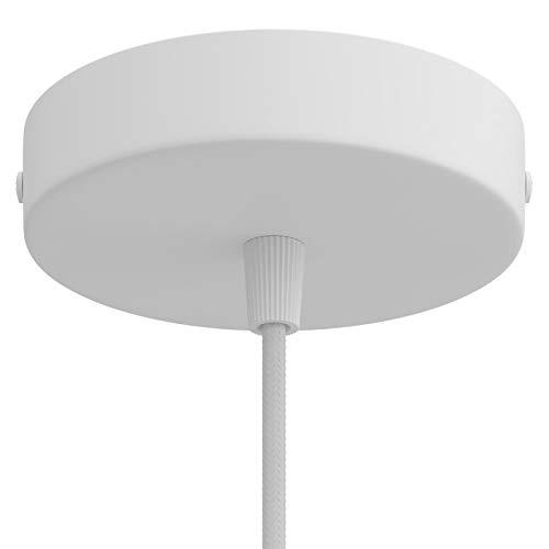 creative cables Zylindrischer Lampenbaldachin Kit aus Metall - Mattweiß