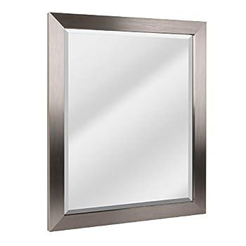 bathroom mirror brushed nickel