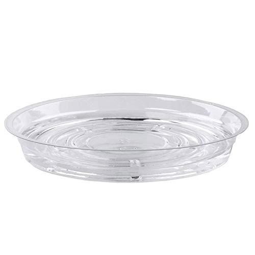 LOPADE 植木鉢トレイプラスチックの透明なシャーシウォータートレイクリアプラントソーサープラントソーサー植木鉢屋内と屋外の植物またはプランターポット用 friendly