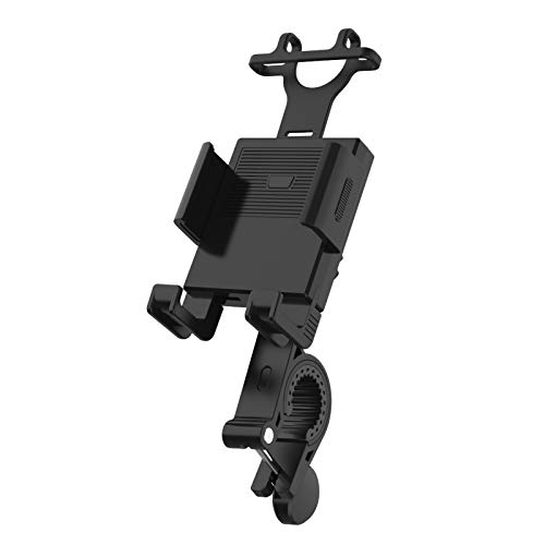 Pufier自転車スマホ ホルダー スタンド バイク用スマホホルダー 360度回転 自転車用 バイクホルダー ロードバイク オートバイ 適用 iPhone 11 11Pro Max X XS Max 8 7 6S 6plus プロ マックス 10 galaxy s8 s9 HUWEI Mate P20 Pro P10 lite Sony Xperia Nexus android 3.5-6.4インチ 多機種対応 (ブラック)