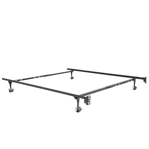 Classic Brands Hercules Standard Metal Bed Frame | Adjustable Width Fits Twin, Twin XL, Full, Queen