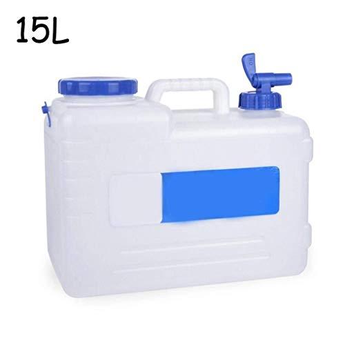 Wasserspender, 15 l, BPA-frei, tragbarer Wasserbehälter, mit Zapfen, Trinkwasserspender, Wasserkanne, Eimer für Wohnwagen, Camping, Wandern, Outdoor, Notfall, Auto, Wassertank, Camping, Wasser S