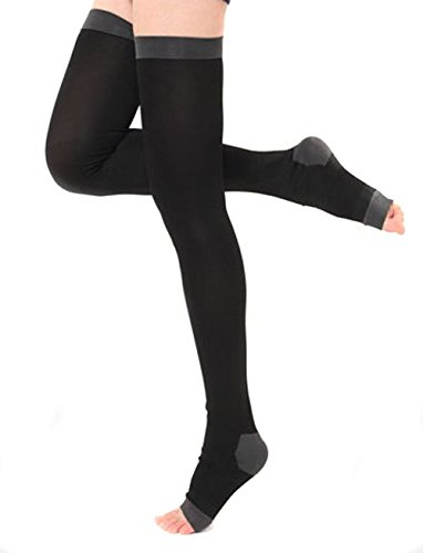 Butterme Damen Overnight Thigh High Compression Toeless Socken Yoga Sleep Legging Strumpf